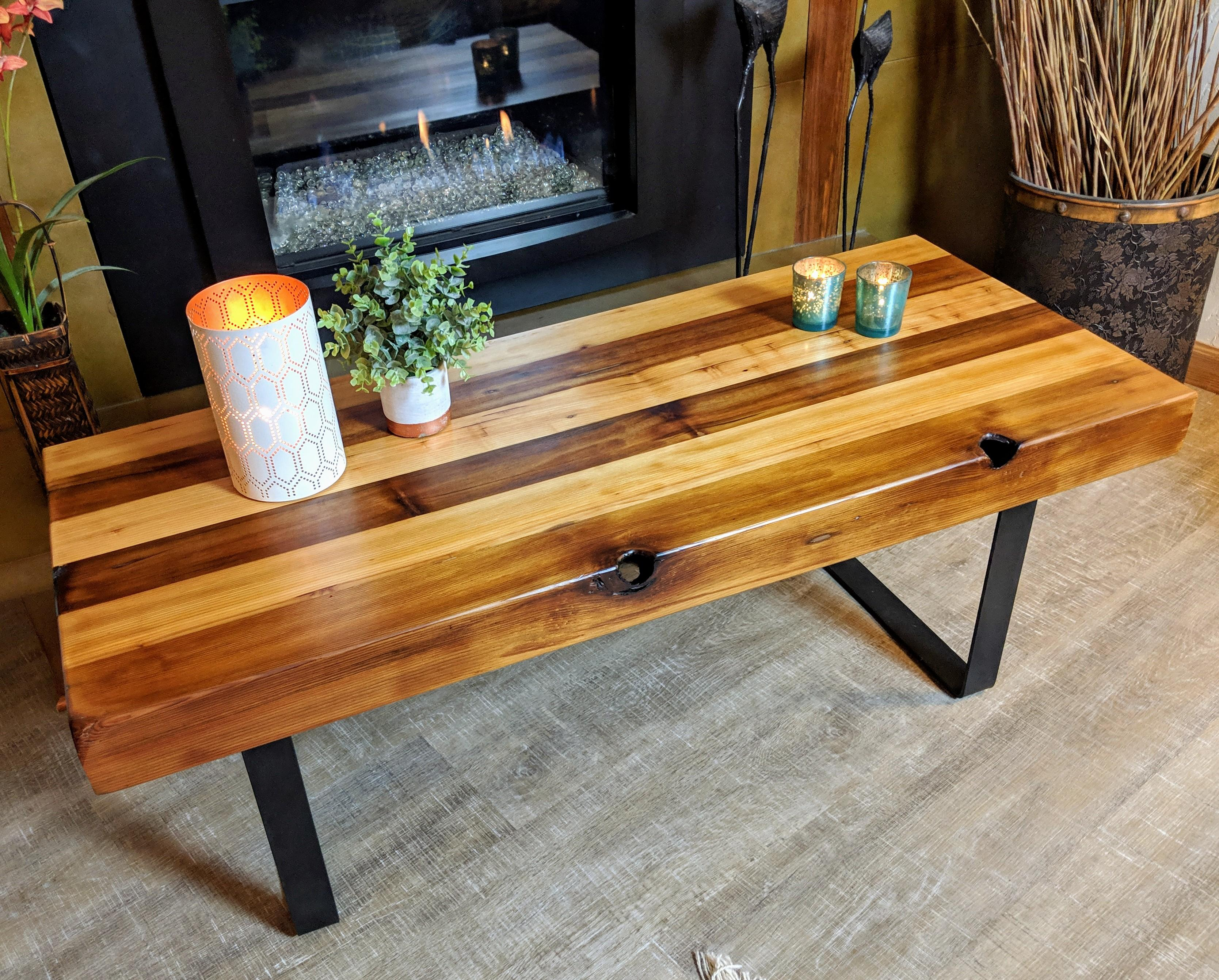 Welcome home cedar bench coffee table